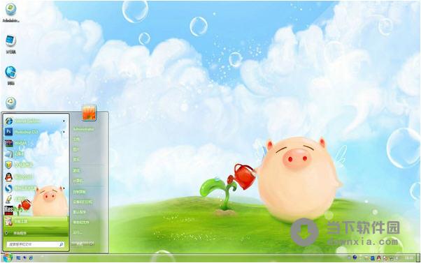 简介:卡通小猪电脑桌面,一只充满自信的小猪,让你忍俊不禁,他那可爱