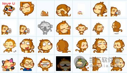 悠嘻猴qq表情包大全|悠嘻猴qq表情包