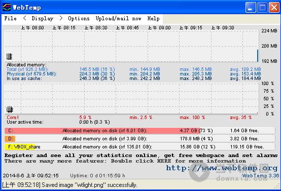 webtemp(硬件温度检测软件) v3.36 官方最新版