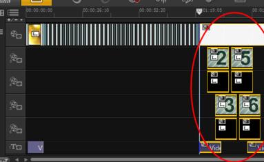 将模板拖放至编辑区轨道结尾位置