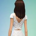 模拟人生4后背交叉蕾丝裙MOD V1.0 绿色免费版