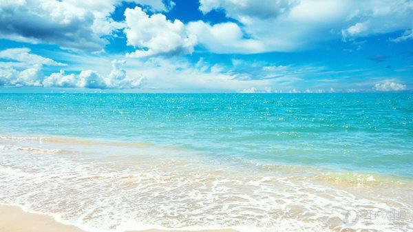 高清唯美海景壁纸 1920x1080 18p 绿色免费版