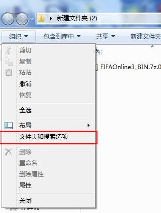 文件夹和搜索选项