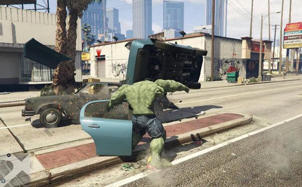 GTA5暴力绿巨人浩克MOD