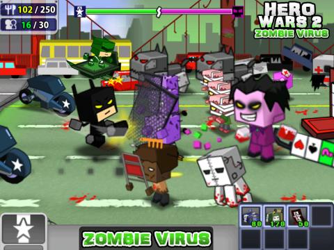英雄战争2僵尸病毒修改版 V1.0 安卓版截图1