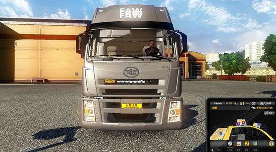 欧洲卡车模拟2蓝黄两色氦气灯MOD