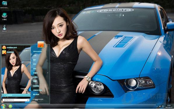 福特野马GT车模win7主题