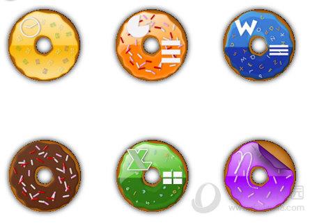 美味甜甜圈桌面图标