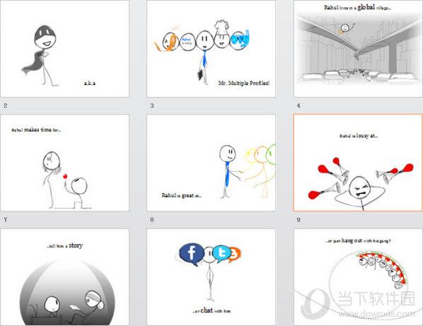 创意个人自我介绍ppt模板图片
