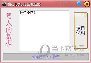 刘漾LOL后台喊话器