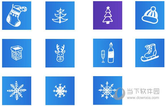 蓝色圣诞系列桌面图标
