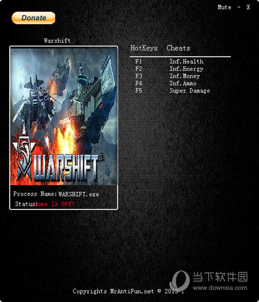Warshift五项修改器