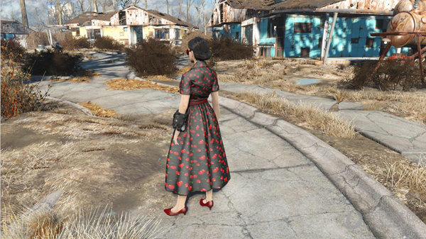 辐射4贵妇连衣裙mod