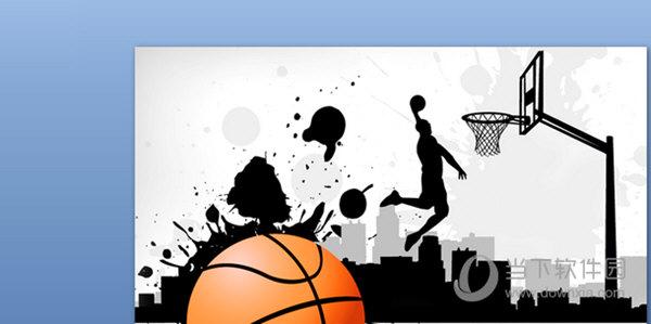 街头篮球主题ppt模板 免费版
