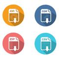 多彩文件标签桌面图标 免费版
