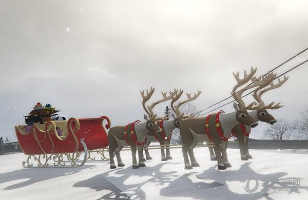 gta5圣诞驯鹿车mod
