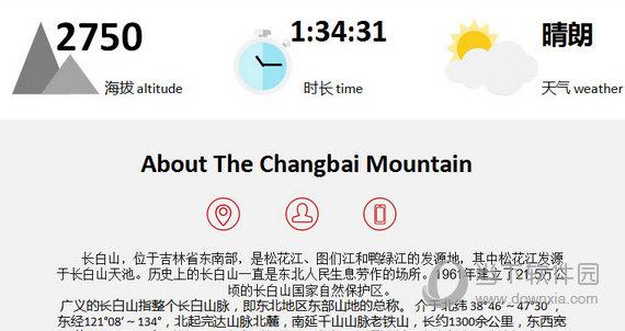 长白山旅游介绍PPT模板