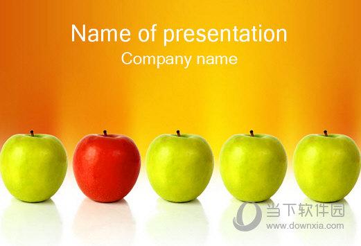 多彩苹果主题PPT模板