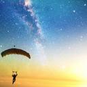 高空跳伞唯美win7主题 免费版