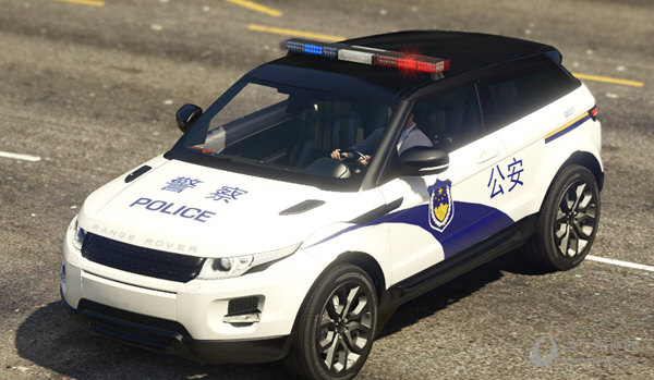 gta5中国路虎警车mod