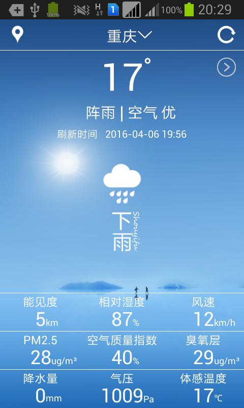 可可天气app V1.0 安卓版截图1