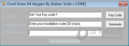 coreldraw x4注册机