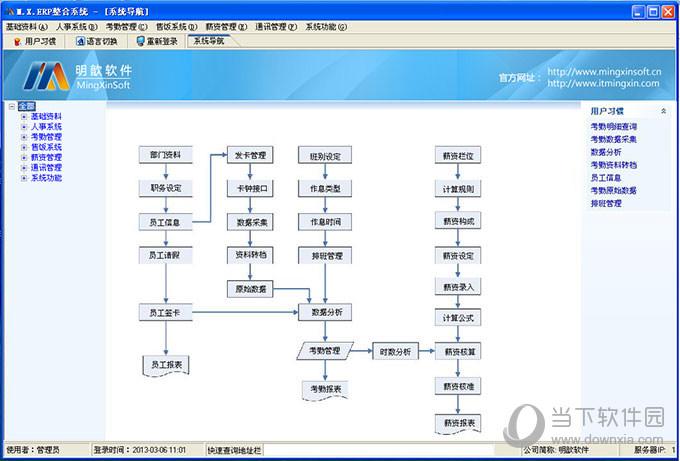 明歆M23人力资源管理软件