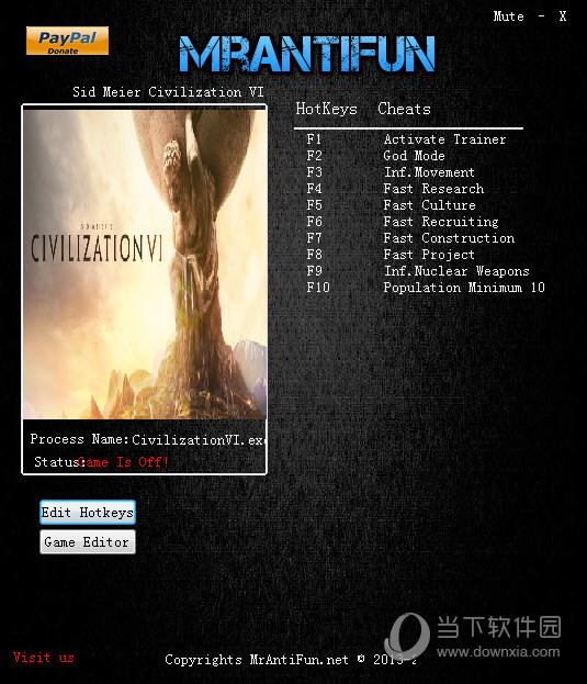 文明6内置修改器