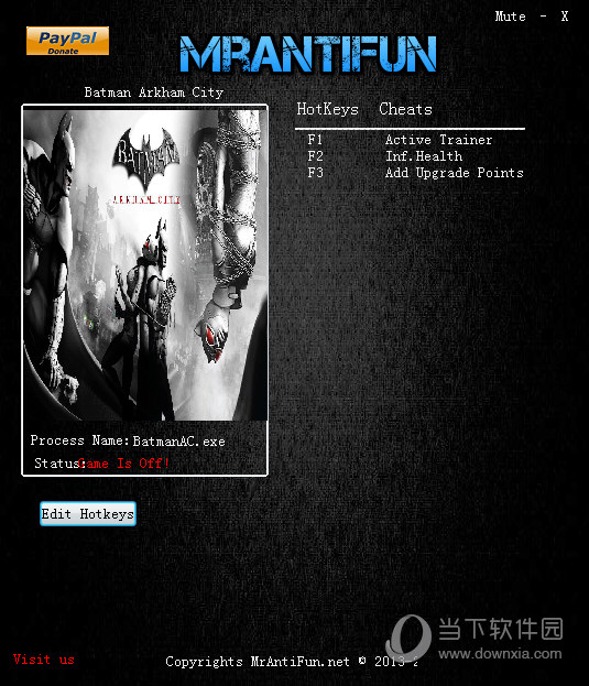 蝙蝠侠阿卡姆之城两项修改器