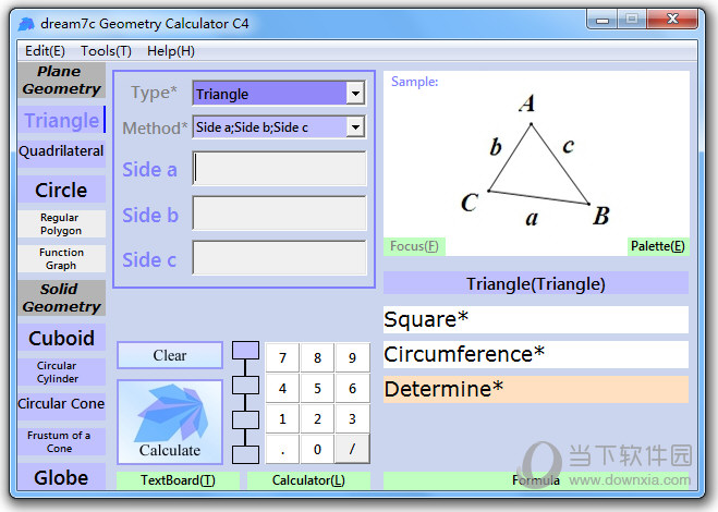 dream7c Geometry Calculator C4