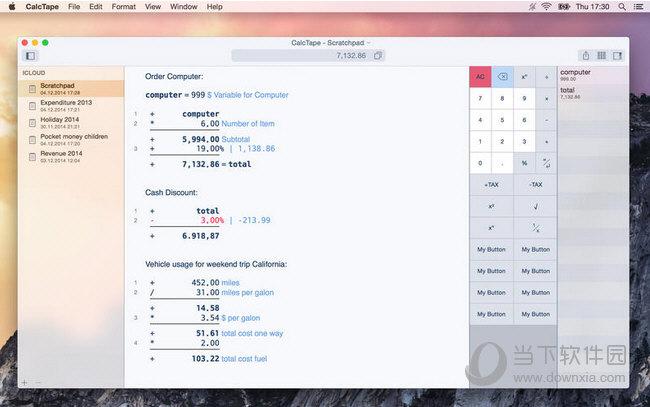 CalcTape MAC版