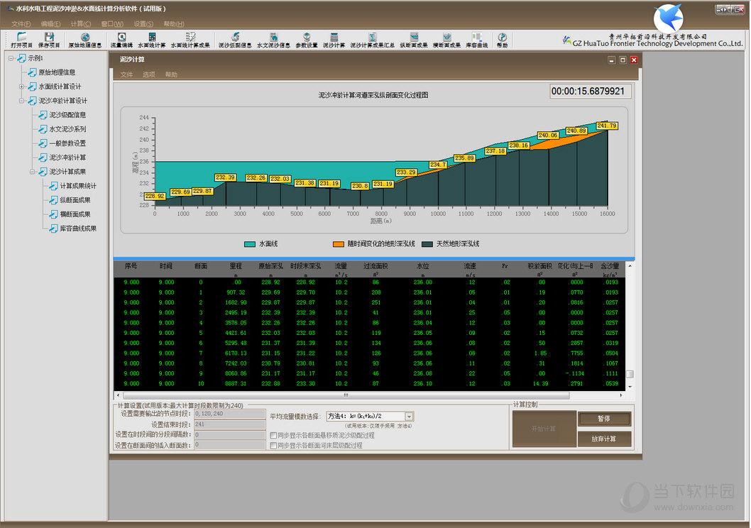 水面线计算分析软件