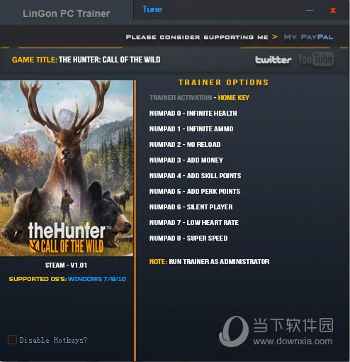 猎人荒野的呼唤九项修改器