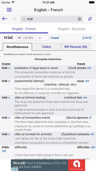 WordReference字典 V4.0.9 安卓版截图3