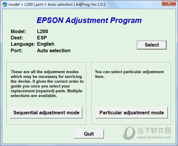 EPSON Adjustment Progrom