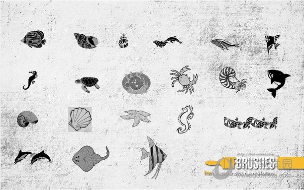 PS海洋生物笔刷