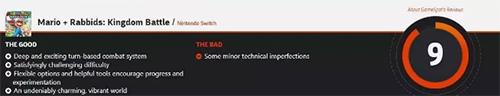 马里奥与疯兔GameSpot评分