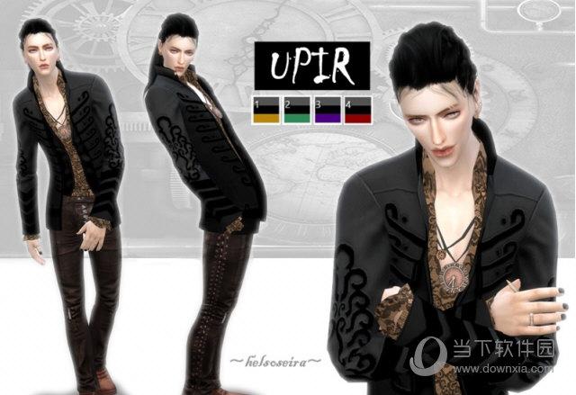 男士朋克风格服装_模拟人生4UPIR男士蒸汽朋克风夹克上衣MOD V1.31 绿色免费版 下载 ...