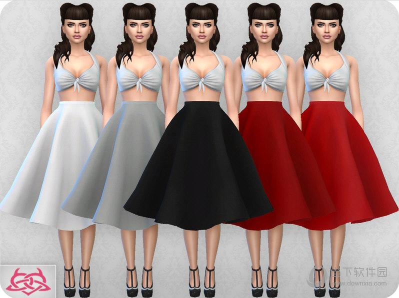 模拟人生4三十件女式复古风裙子MOD包