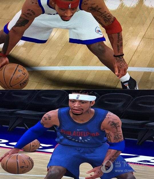 NBA2K18阿伦艾弗森完整纹身MOD