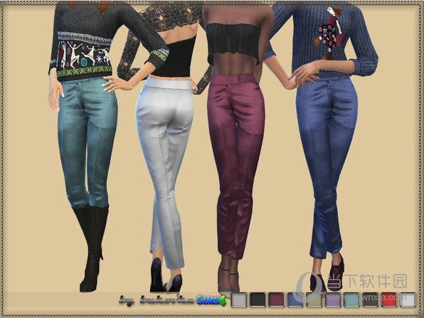 模拟人生4女式丝绸材质裤子MOD