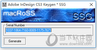 AdobeInDesigncs3序列号生成器