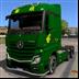 欧洲卡车模拟2中国邮政卡车MOD V1.0 绿色免费版