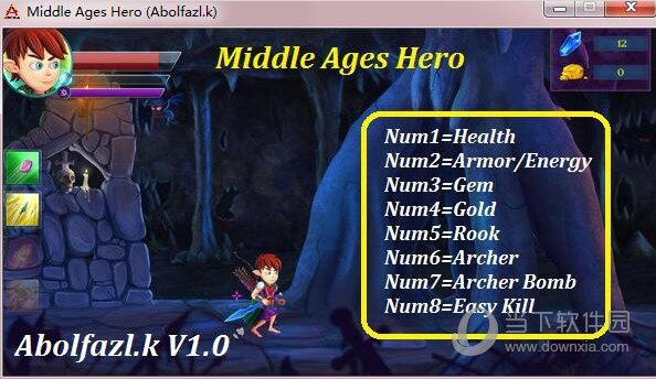 中世纪英雄八项修改器