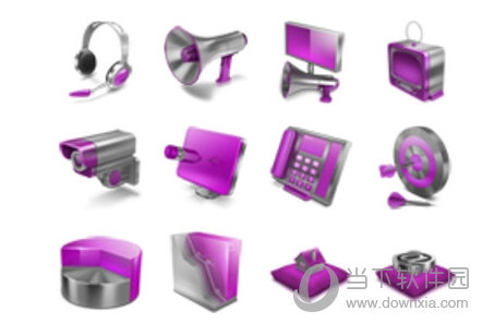 紫色小图标素材