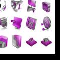 紫色网页小图标素材 V1.0 免费版
