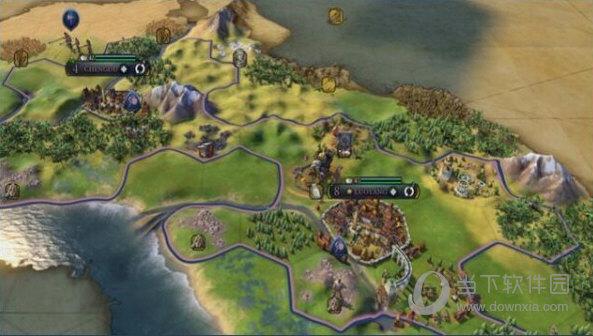 文明6武则天领袖MOD地图界面