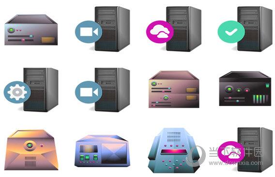 彩色电脑主机图标