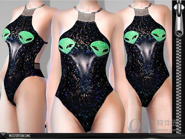 模拟人生4外星人性感连体泳装MOD