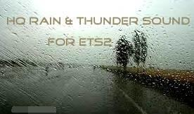 欧洲卡车模拟2真实雨打挡风玻璃声音MOD